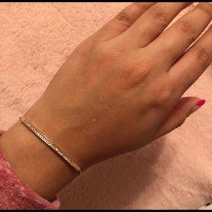 Jewelry - Dainty Rosegold Pave Bar Bracelet